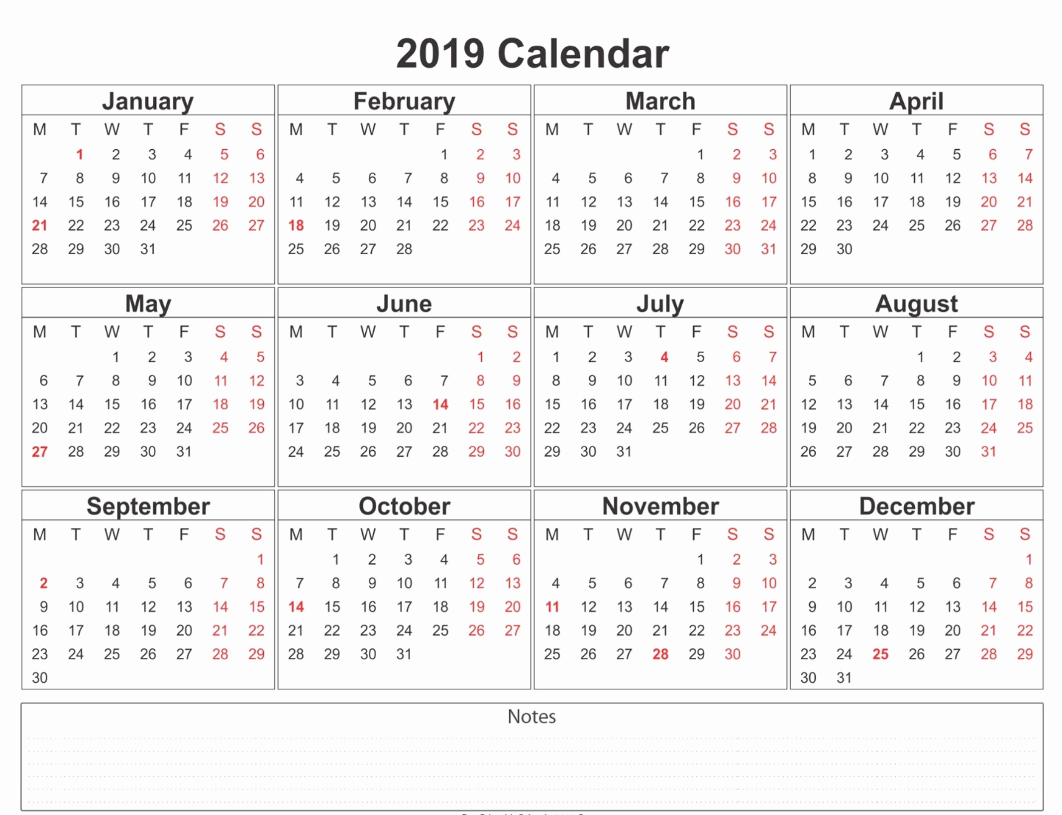 One Page 12 Month Calendar Unique 12 Month Calendar E Page Template Printable Download