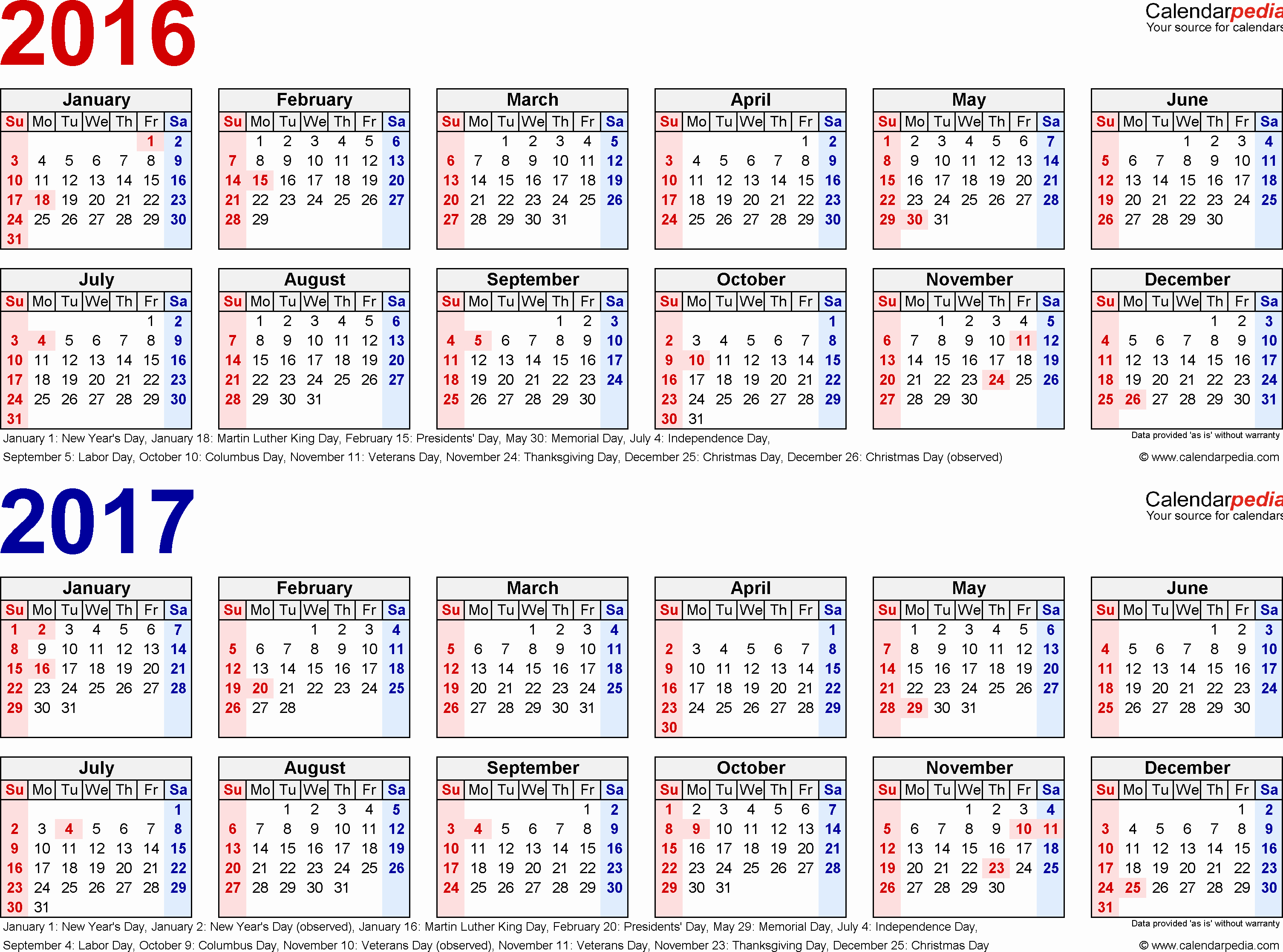 One Page Annual Calendar 2017 Elegant 2016 2017 Calendar Free Printable Two Year Excel Calendars