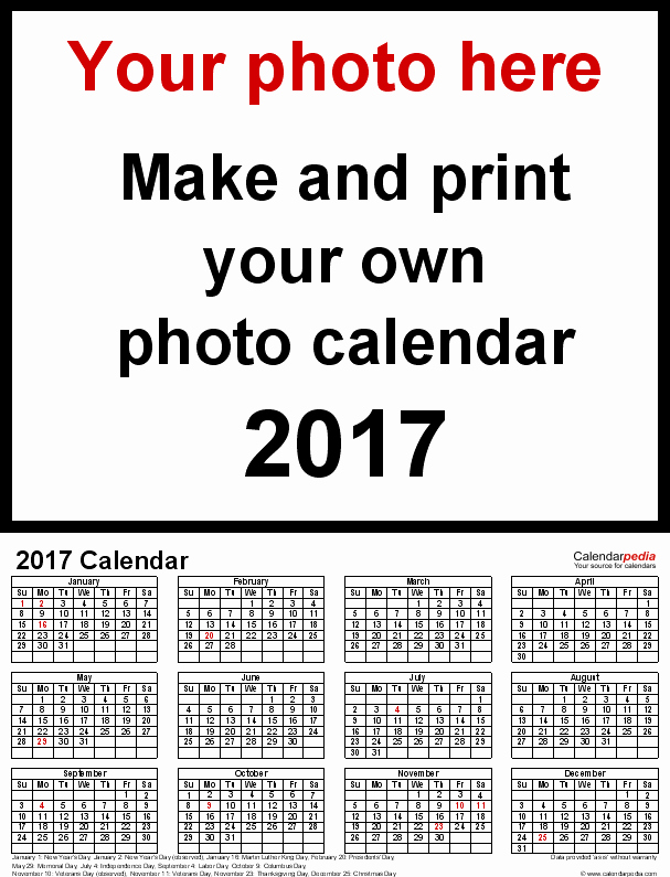 One Page Annual Calendar 2017 Elegant Calendar 2017 Free Printable Word Templates