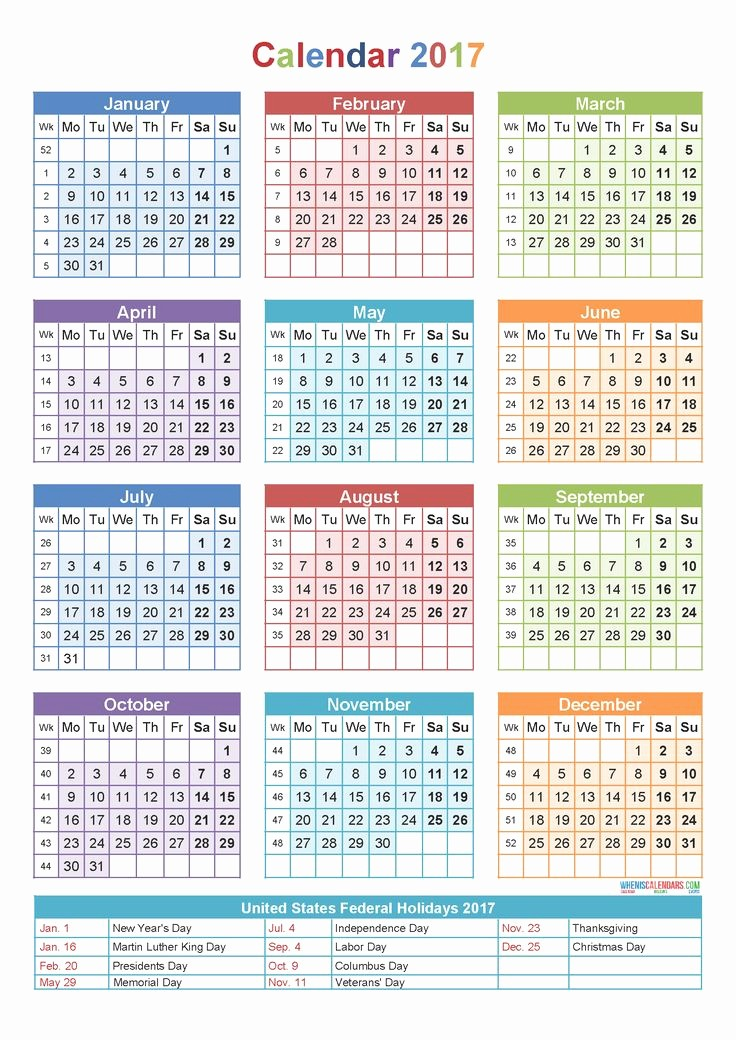 One Page Annual Calendar 2017 Inspirational Best 25 2017 Yearly Calendar Printable Ideas On Pinterest