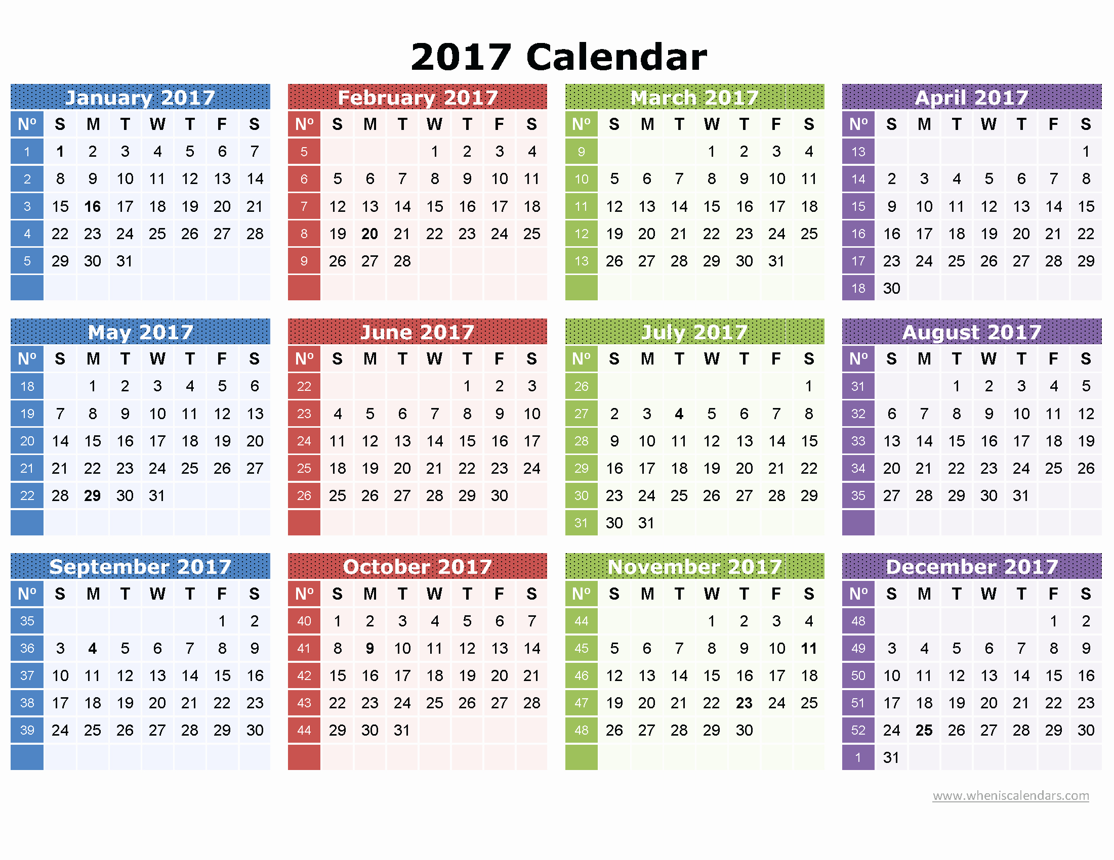 One Page Annual Calendar 2017 Lovely 2017 Calendar Printable E Page