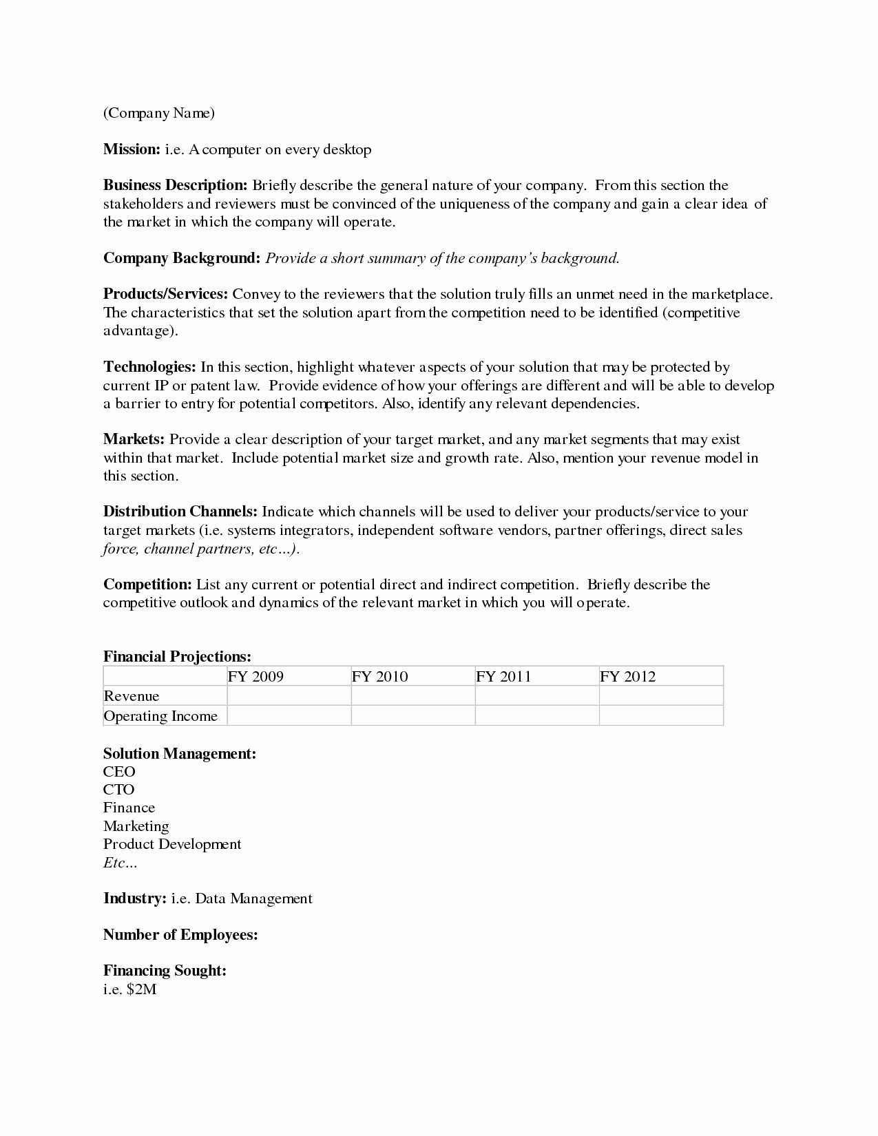 One Page Executive Summary Example Inspirational 5 6 Example Executive Summary
