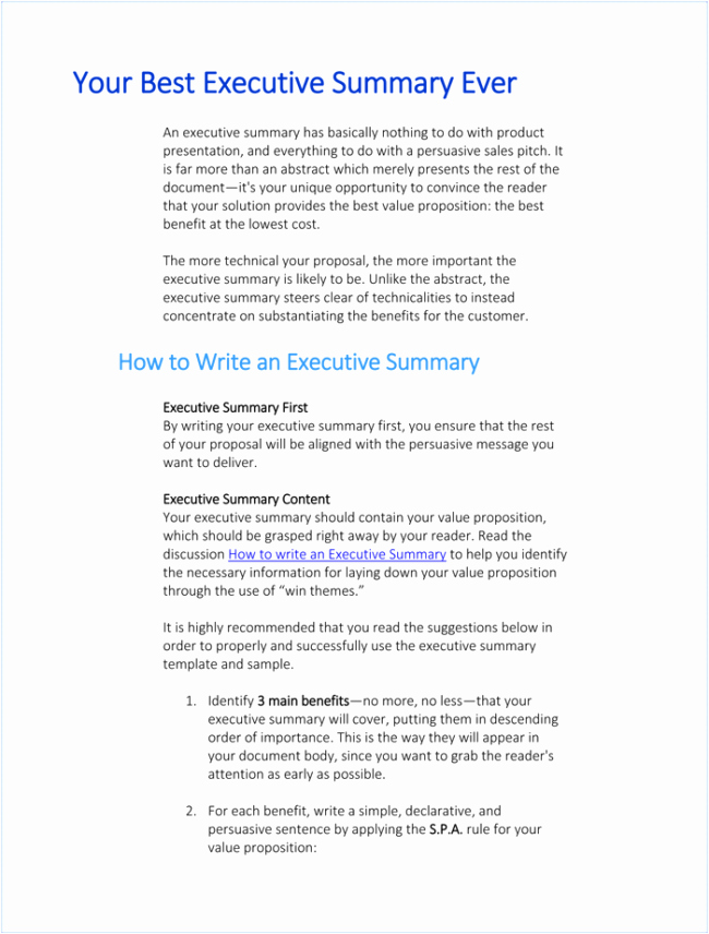 One Page Executive Summary Example Luxury Executive Summary Templates 15 Examples and Samples