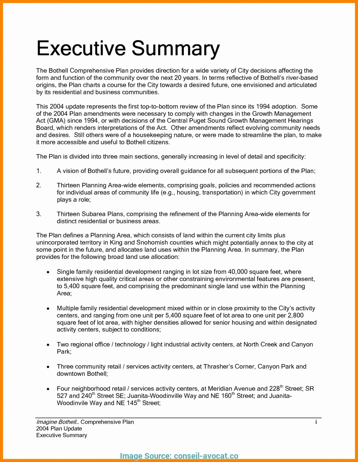 One Page Executive Summary Example Unique E Page Executive Summary Template Word