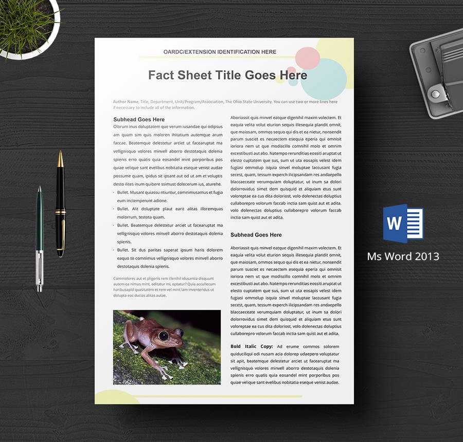 One Page Fact Sheet Template Beautiful 8 Free Fact Sheet Templates Survey Campaign