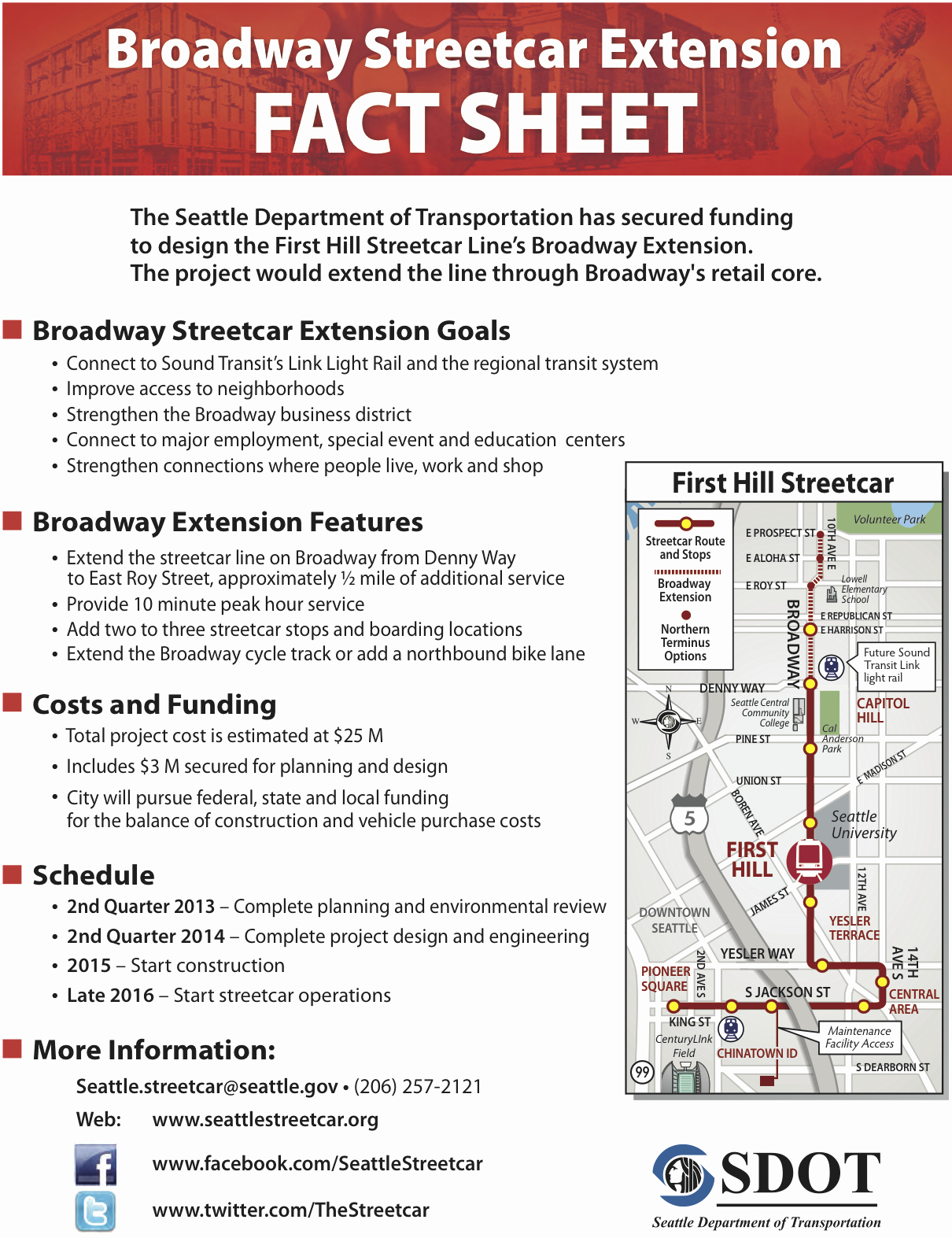One Page Fact Sheet Template Fresh Broadway Streetcar Extention Will Include Cycle Track