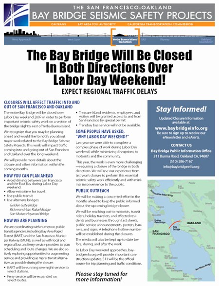 One Page Fact Sheet Template Lovely San Francisco Oakland Bay Bridge East Span Seismic Safety