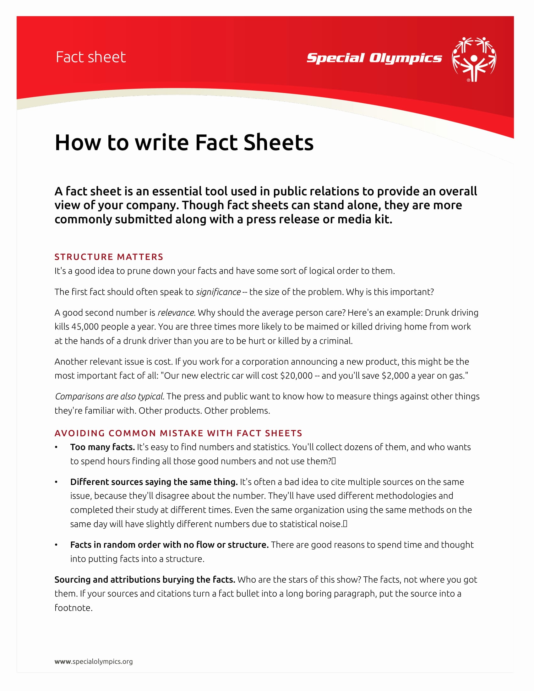 One Page Fact Sheet Template New 14 Fact Sheet Templates and Examples Pdf