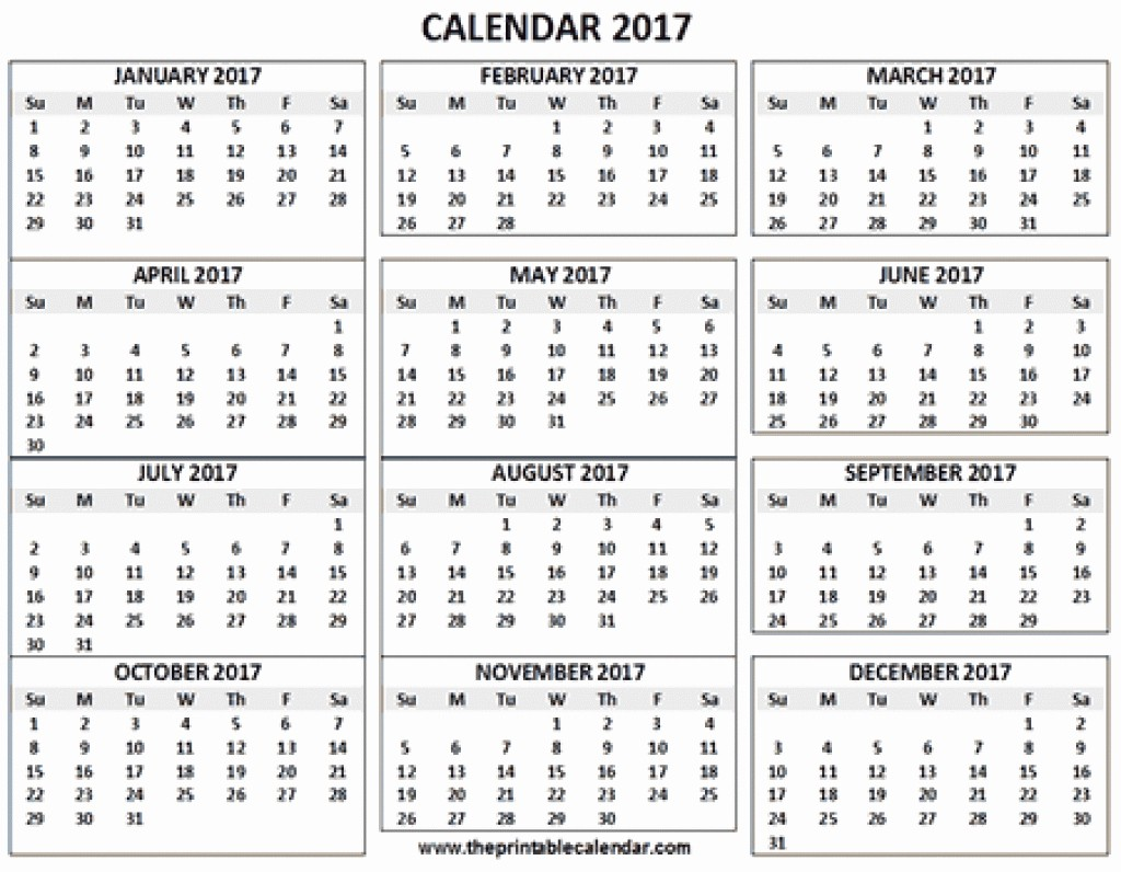 One Page Year Calendar 2017 Beautiful 12 Month Calendar 2018 E Page