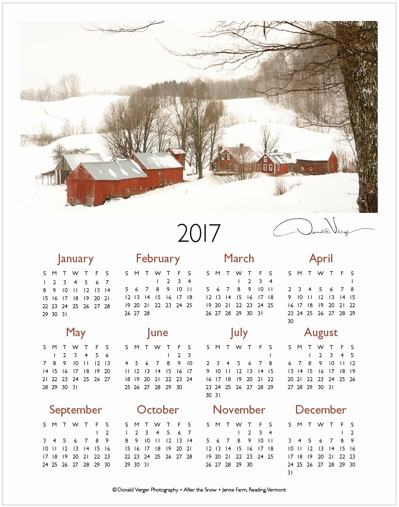 One Page Year Calendar 2017 Luxury the 2017 E Page Calendars are Out