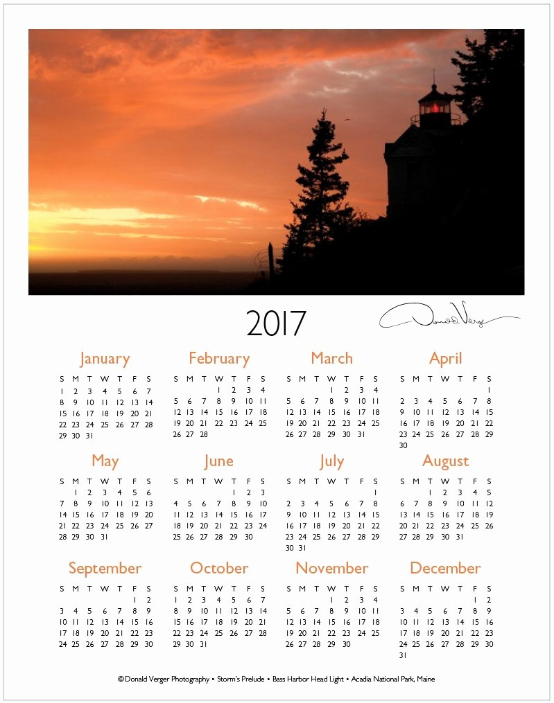 One Page Year Calendar 2017 New the 2017 E Page Calendars are Out