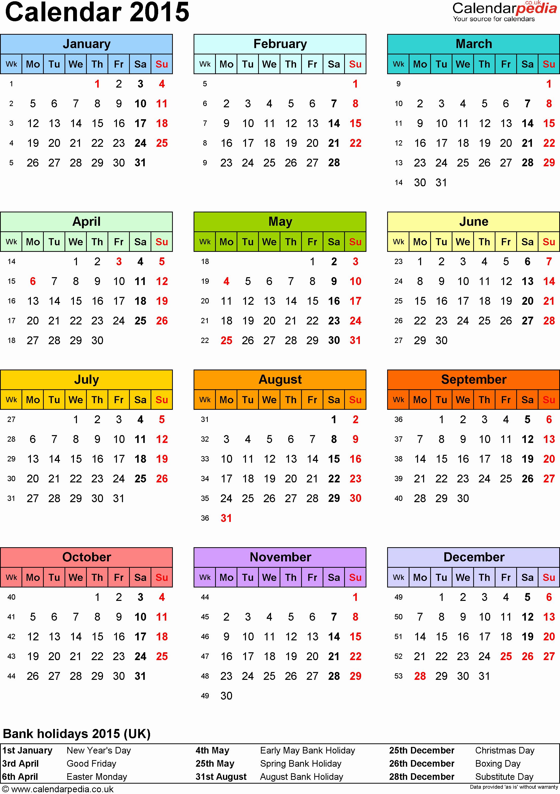 calendar 2015 pdf templates
