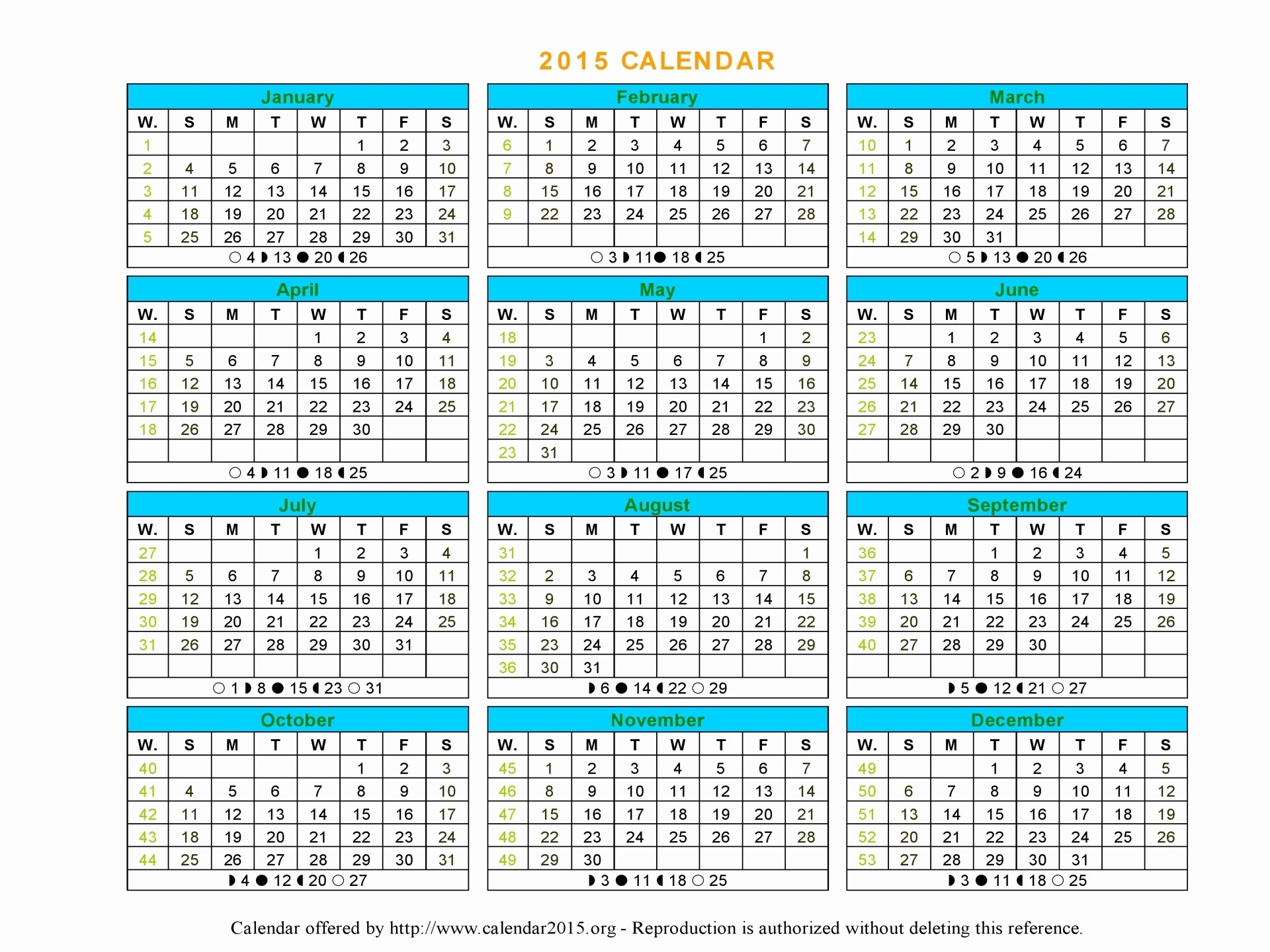 One Page Yearly Calendar 2015 Beautiful 16 2015 Word Calendar Template 2015 Monthly