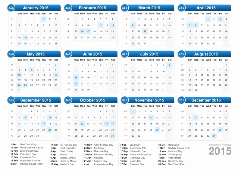 One Page Yearly Calendar 2015 Beautiful 2015 Printable Calendar 1 Page
