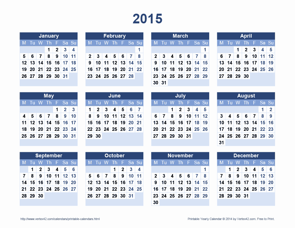 One Page Yearly Calendar 2015 Best Of Calendar 2013 and 2014 Printable E Page Page 2
