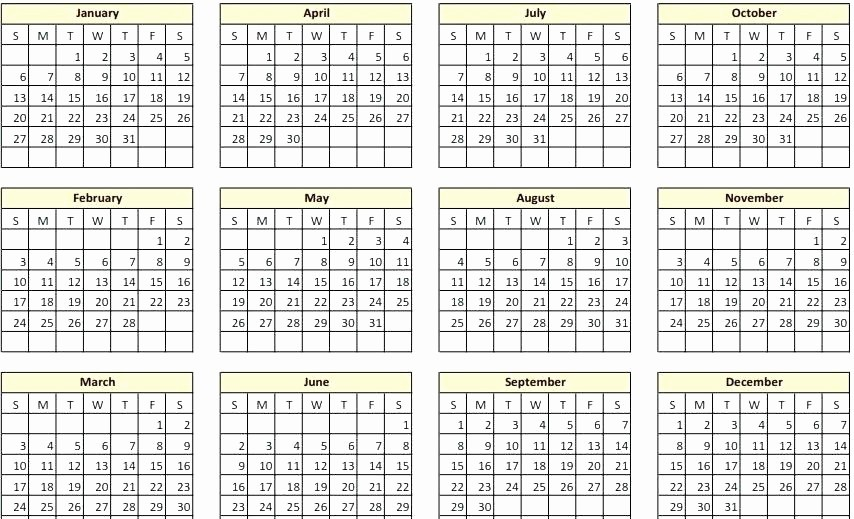 One Page Yearly Calendar 2015 Best Of Printable Yearly Calendar 2014 2015 to Print E Page