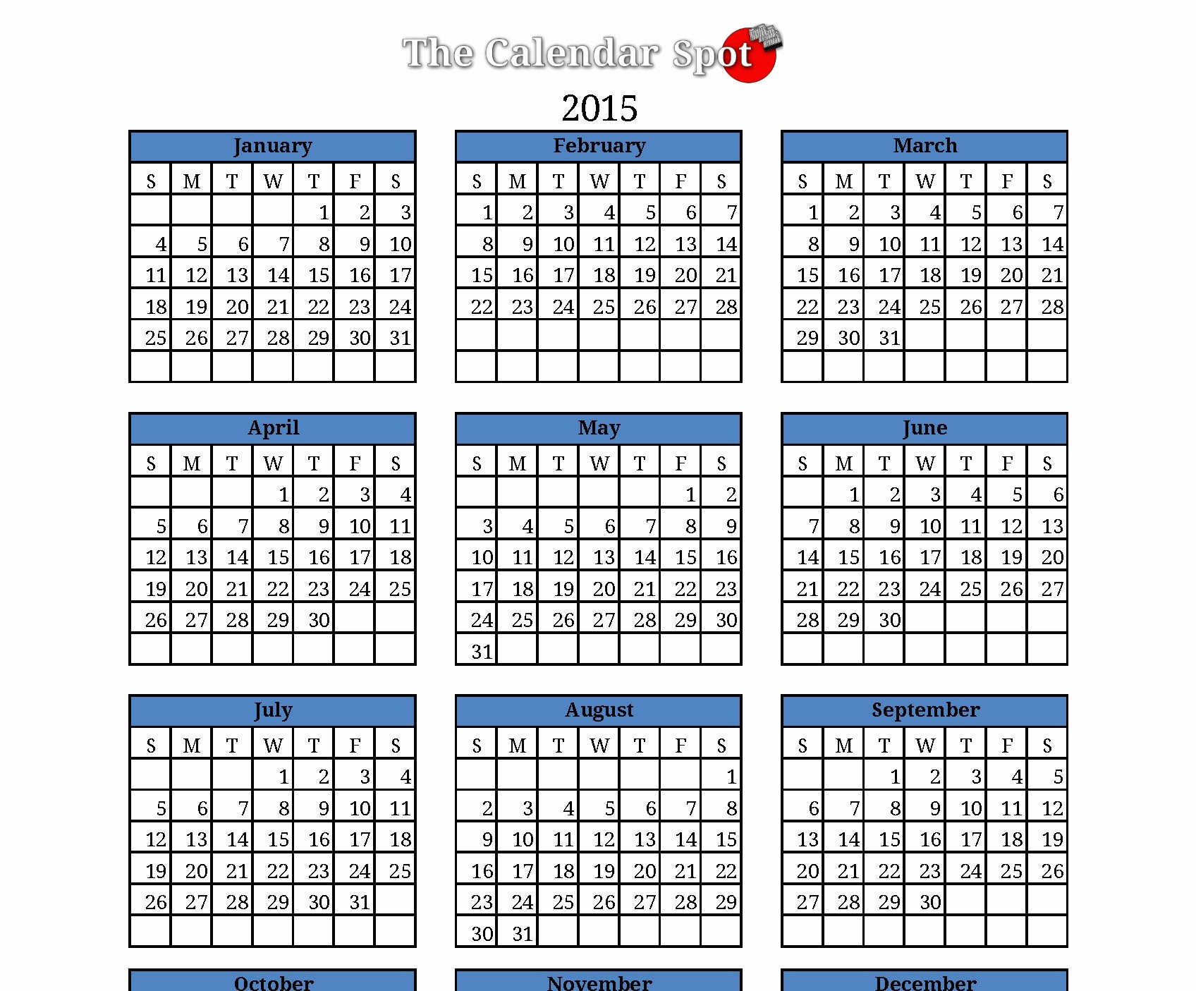 One Page Yearly Calendar 2015 Elegant 5 Best Of Blank Calendar 2015 Printable E Page