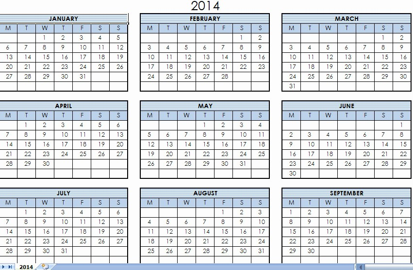 One Page Yearly Calendar 2015 Inspirational 7 Best Of Year Calendar 2014 Printable E Page