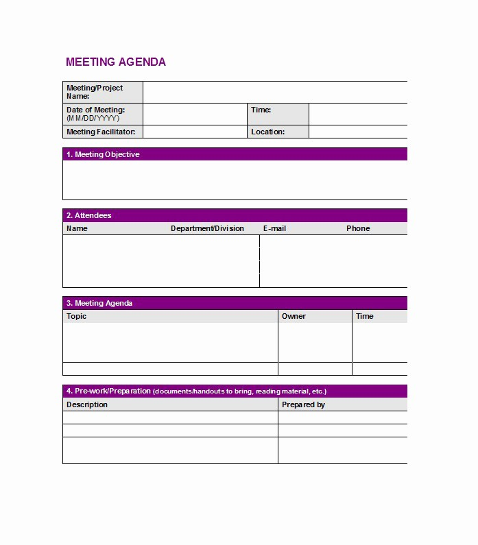One to One Meeting Templates Elegant 46 Effective Meeting Agenda Templates Template Lab
