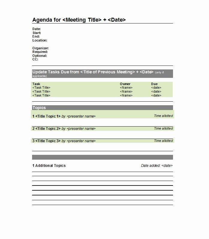 One to One Meeting Templates Fresh 46 Effective Meeting Agenda Templates Template Lab