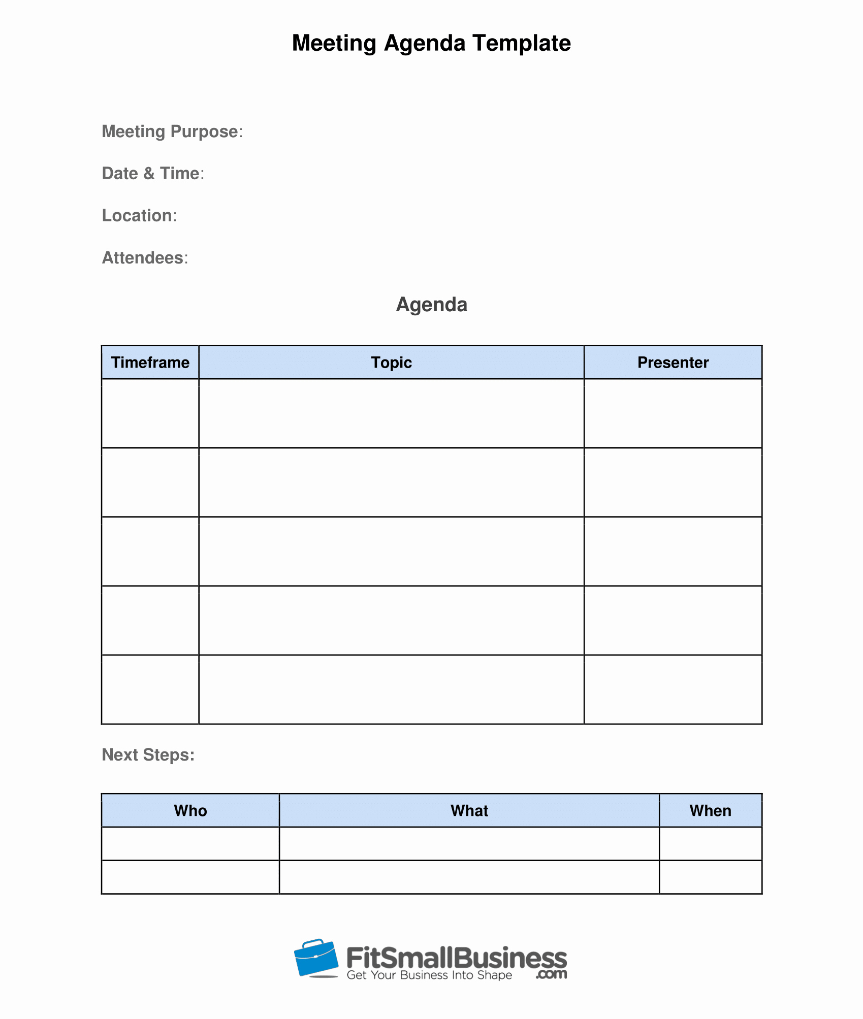 One to One Meeting Templates Fresh How to Run Effective Meetings In 10 Steps [ Free Template]