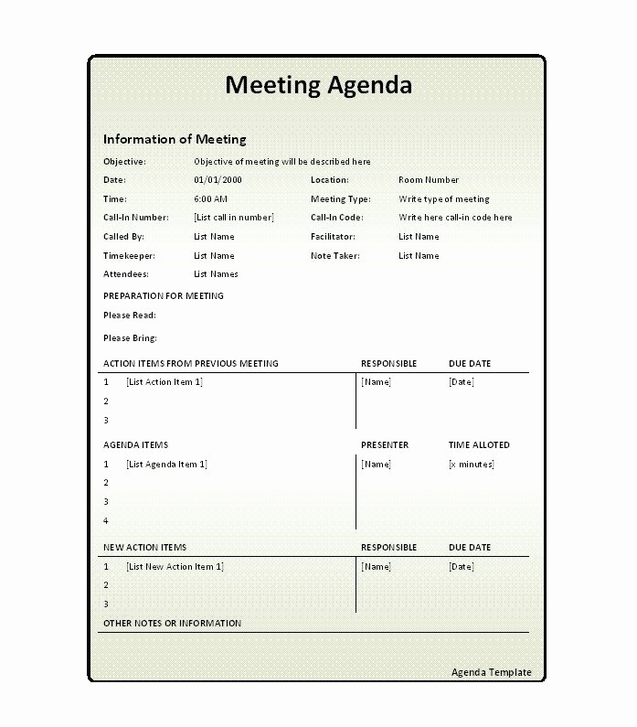 One to One Meeting Templates New 46 Effective Meeting Agenda Templates Template Lab