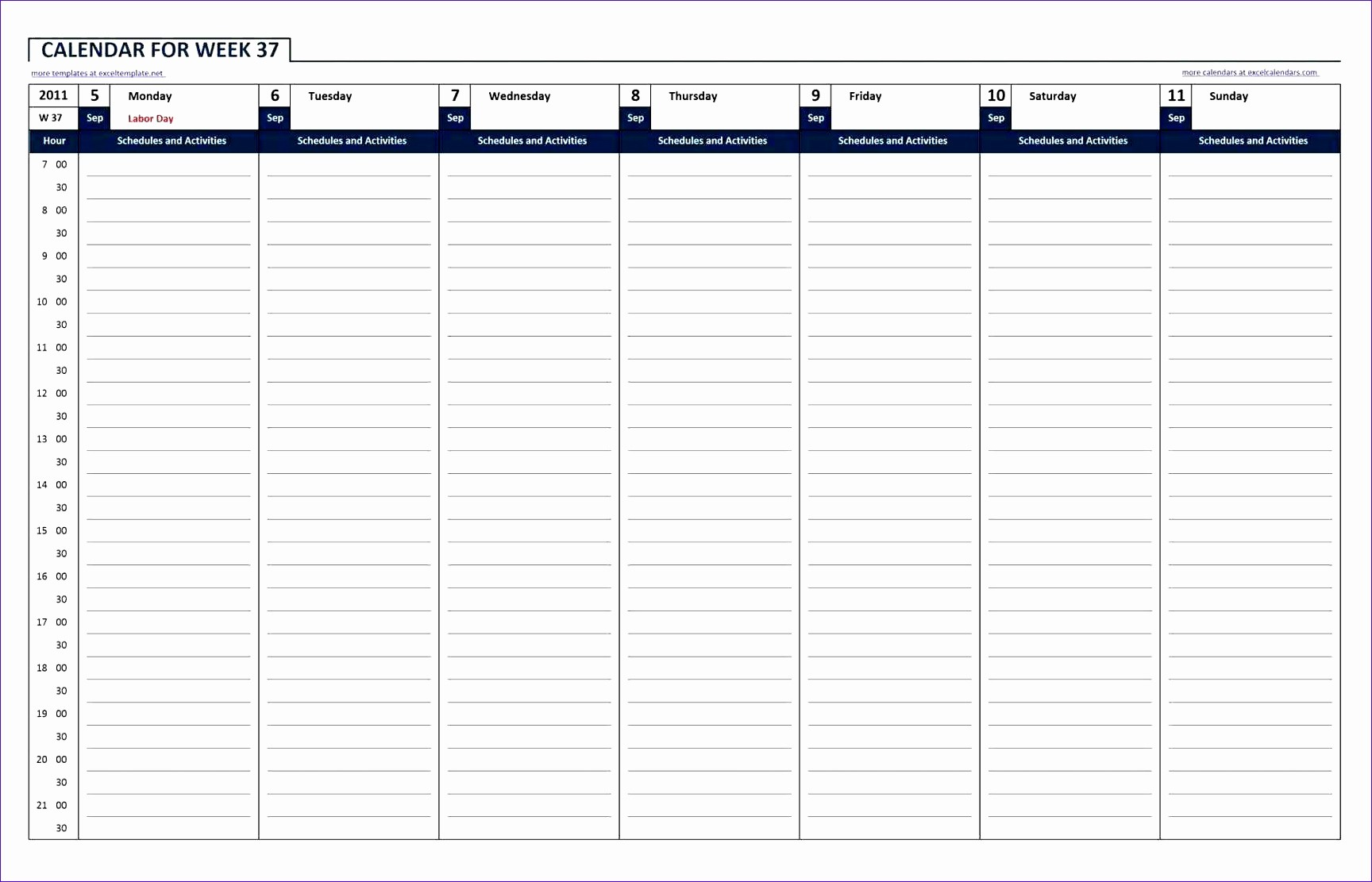 One Week Calendar with Hours Fresh 10 24 Hour Work Schedule Template Excel Exceltemplates