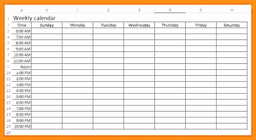 One Week Calendar with Hours Inspirational 12 13 Week Calendar with Times