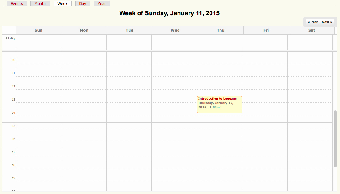 One Week Calendar with Hours New Ruby On Rails Simple Calendar Week Calendar by One Day