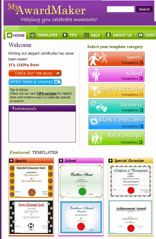 myawardmaker custom certificate templates