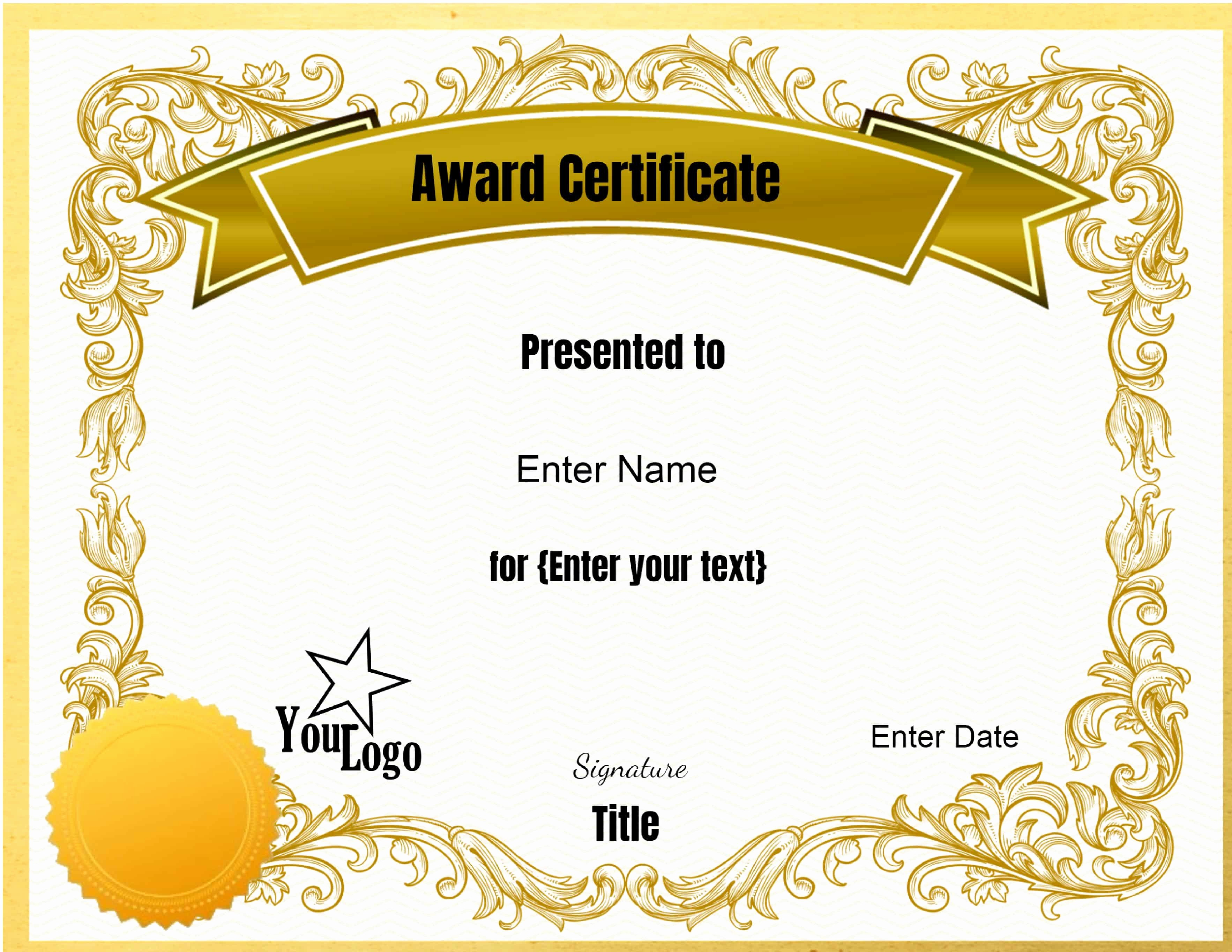 Online Certificate Maker with Logo Elegant Certificate Templates