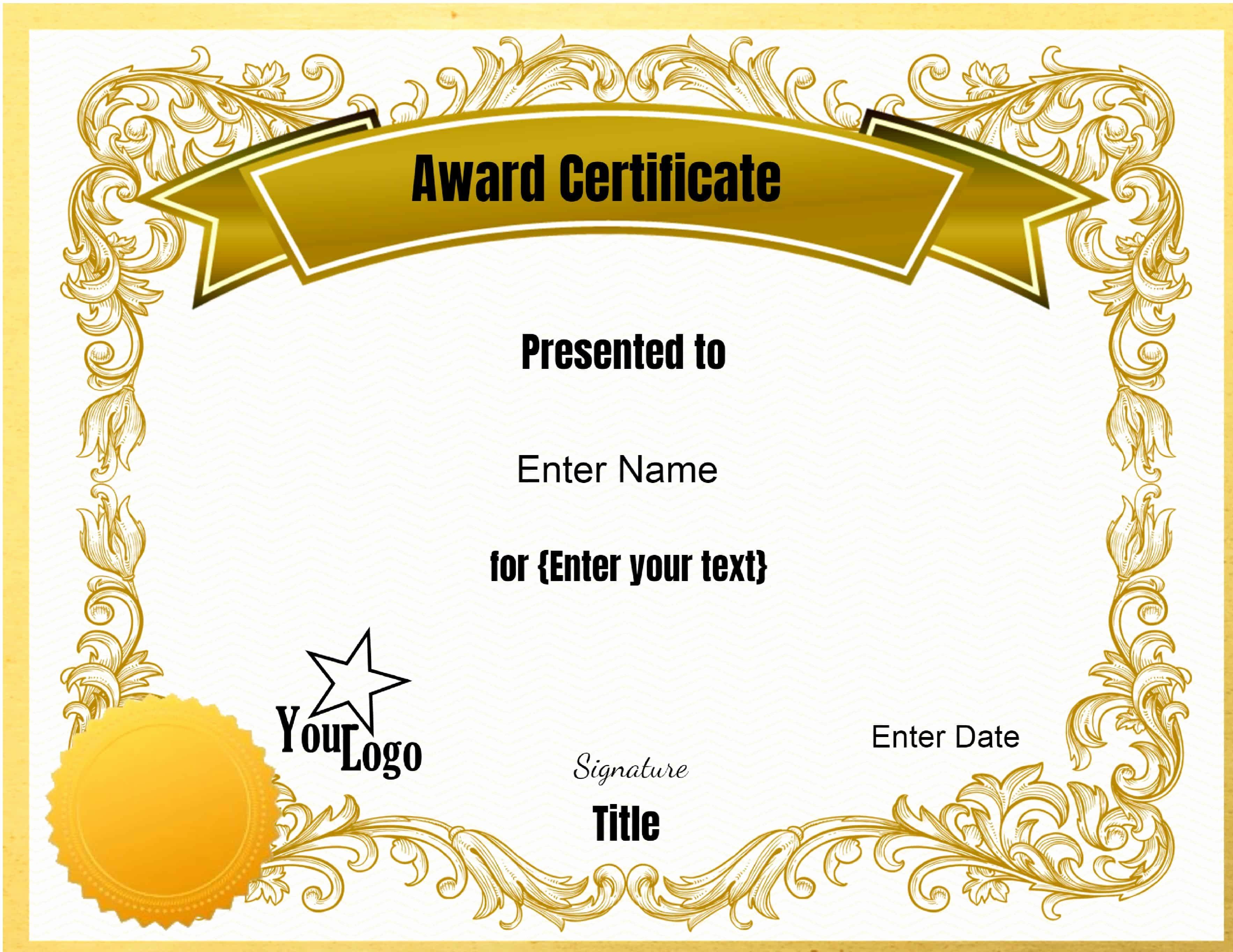 Online Certificate Maker with Logo Elegant Certificate Templates