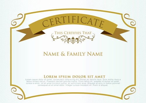 Online Certificate Maker with Logo Unique Coreldraw Certificate Template Free Vector
