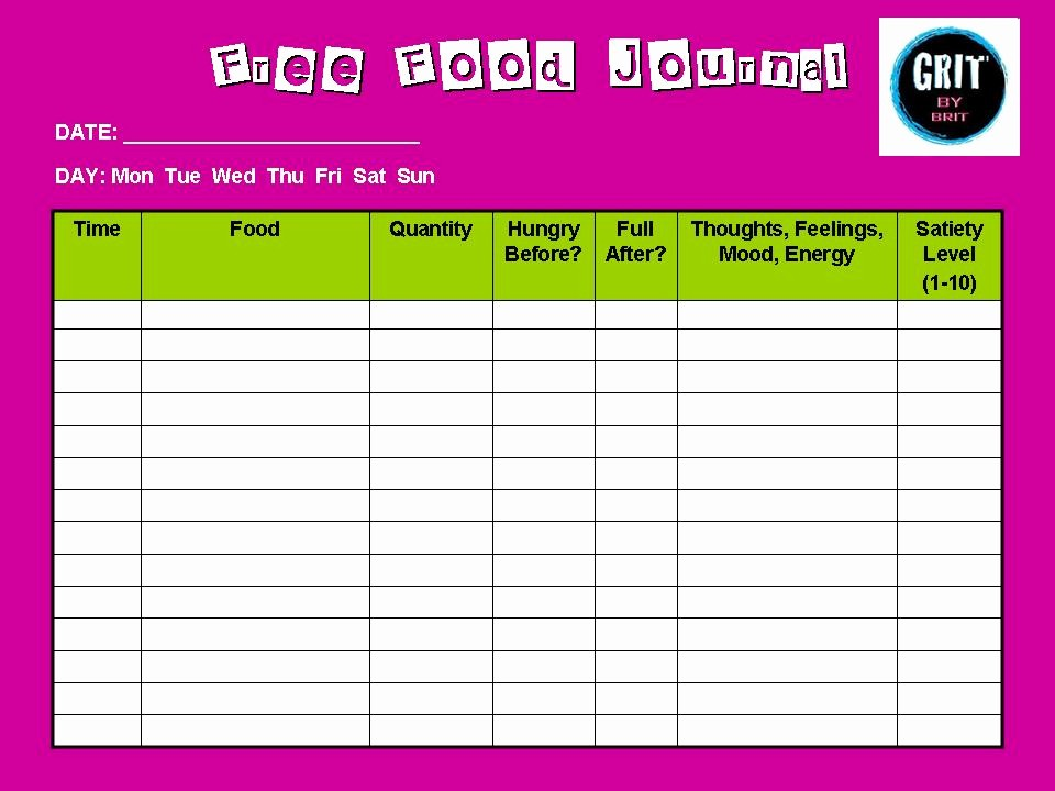 Online Food and Exercise Journal Elegant Best S Of 3 Day Diet Diary Food Diary Diet Journal