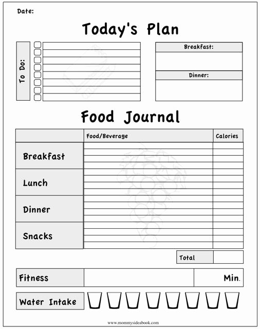 Online Food and Exercise Journal Fresh Line Calorie Calculator for Homemade Recipes