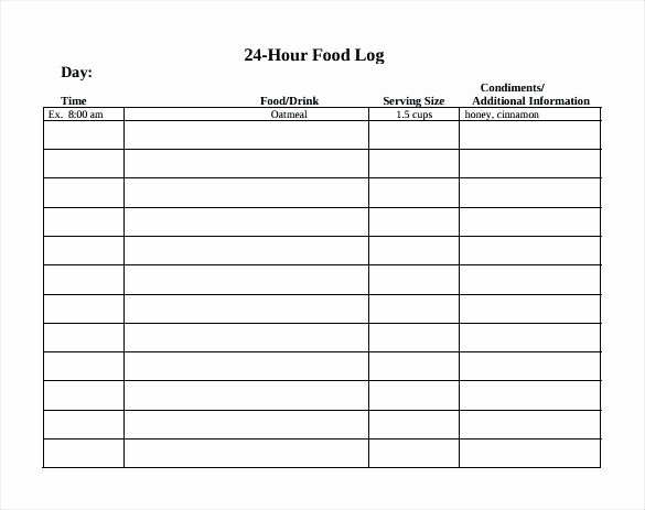 Online Food and Exercise Journal Inspirational Food Exercise Diary Food Diary Template Excel Daily Log