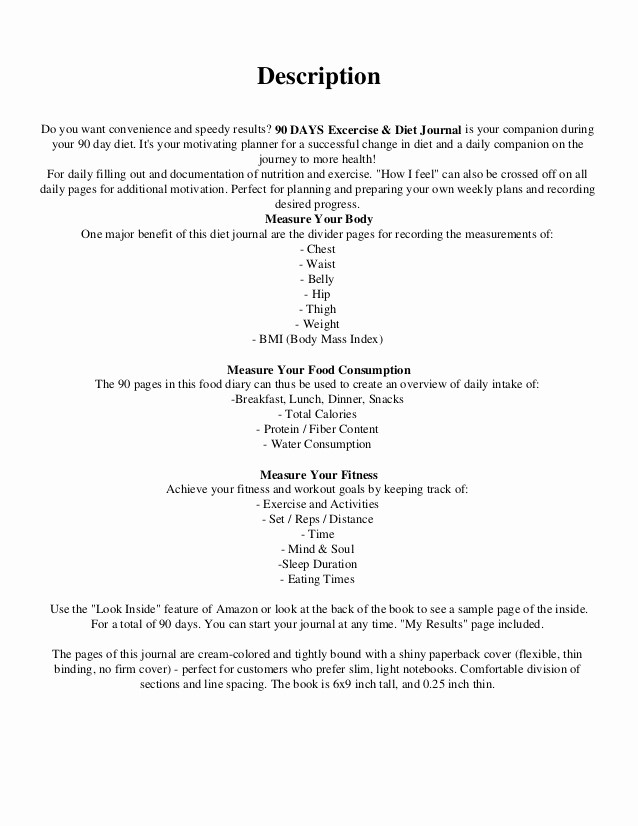 Online Food and Exercise Journal Unique [pdf] Download 90 Days Exercise & Diet Journal Daily Food