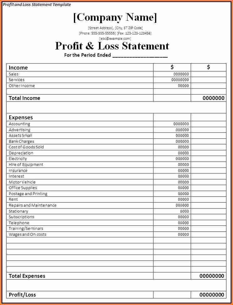 Online Profit and Loss Statement Beautiful Profit and Loss Template for Self Employed Driverlayer