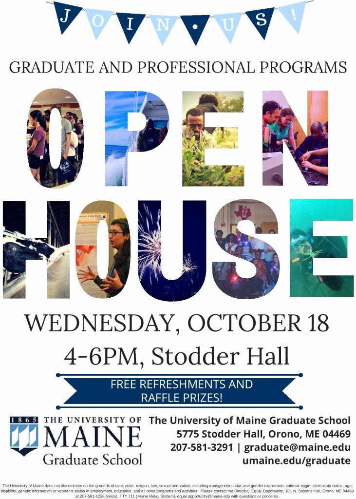Open House Flyer for School Awesome 2017 Graduate and Professional Programs Open House