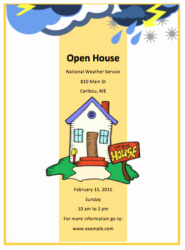 Open House Flyer for School Awesome Open House Flyer Template Free Flyer Templates