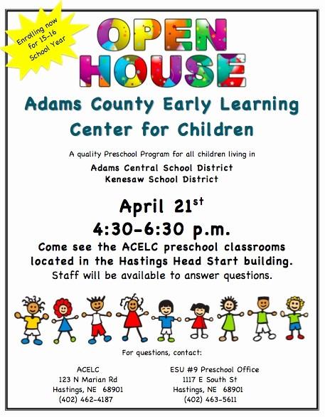 Open House Flyer for School Awesome School Open House Flyer Template Kenesaw Public Schools