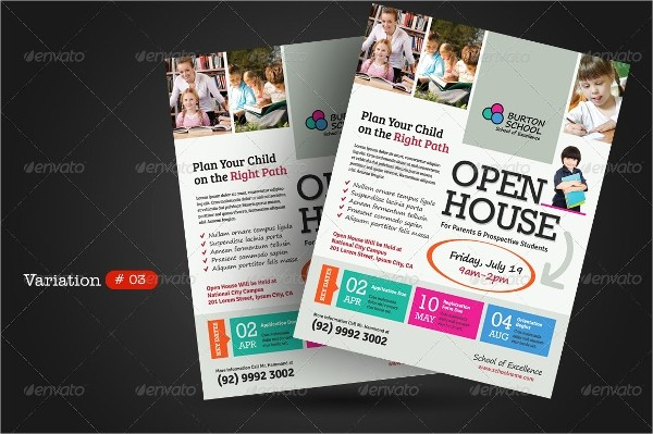 Open House Flyer for School Best Of 27 School Flyers Templates Psd Ai Pages Docs