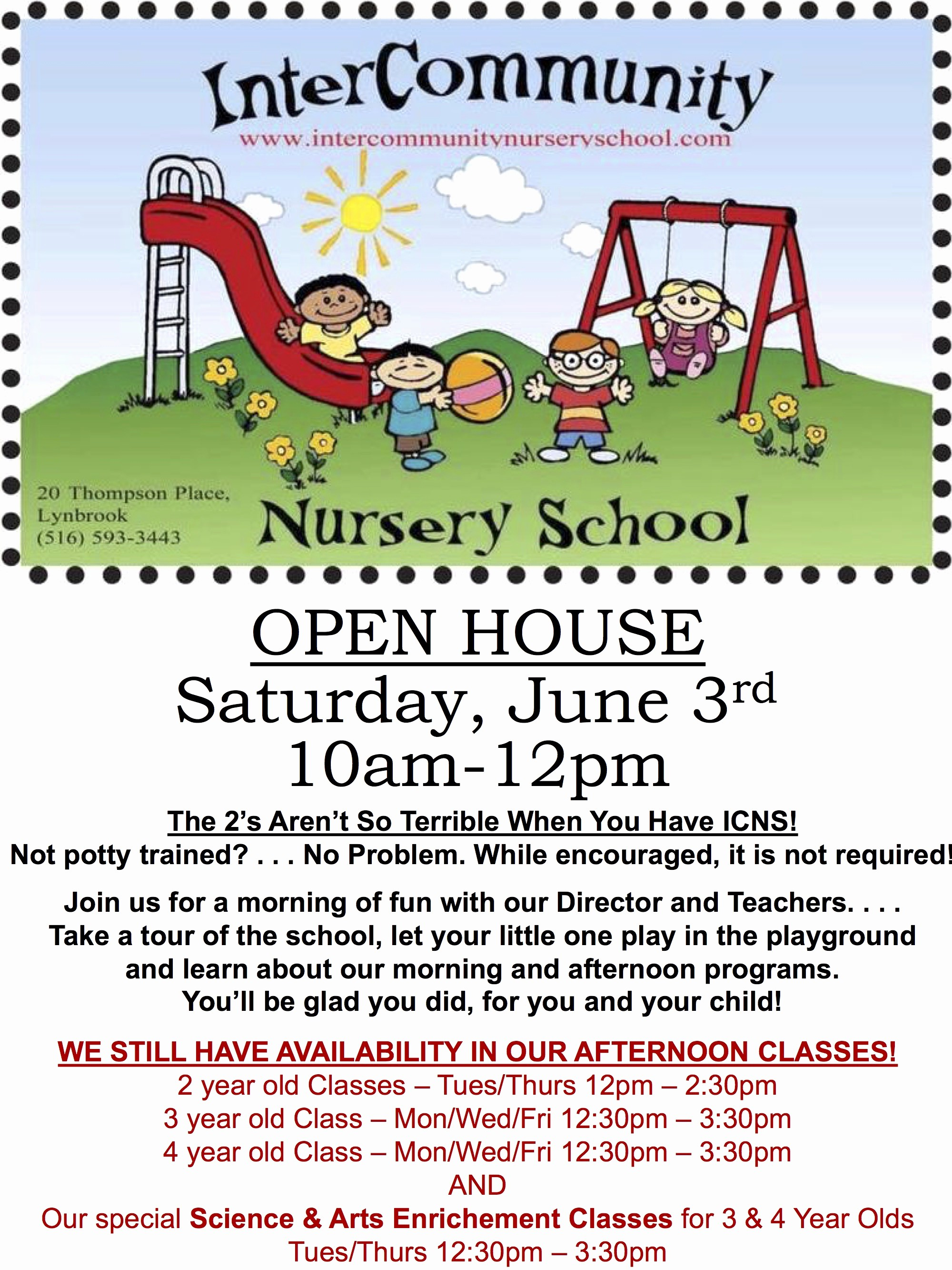 Open House Flyer for School Best Of Icns where Parents Can Stay for their Child's