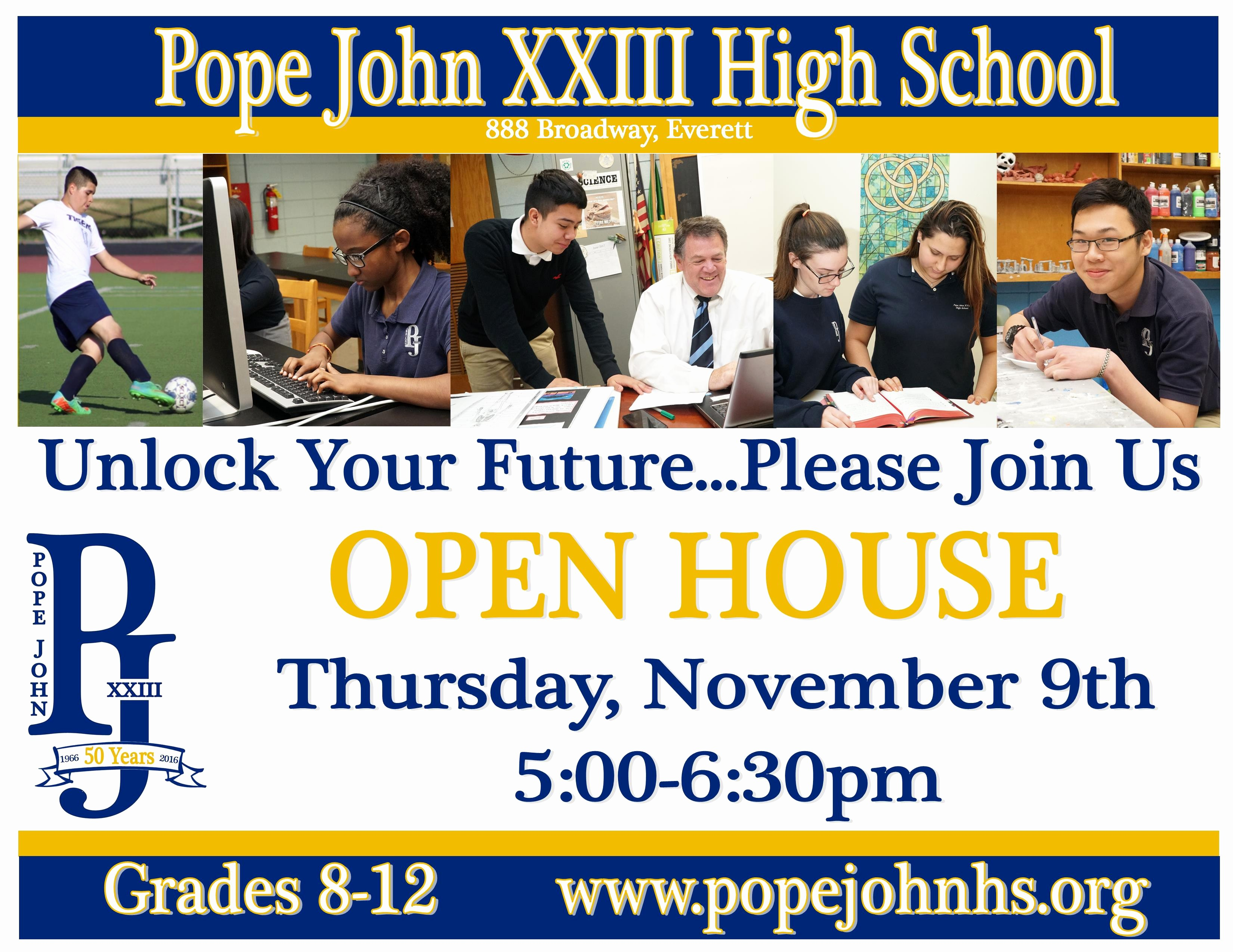 Open House Flyer for School Best Of Pope John Xxiii High School Open House This Thursday