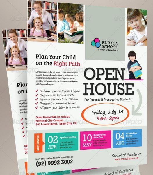 Open House Flyer for School Best Of School Open House Flyer Template