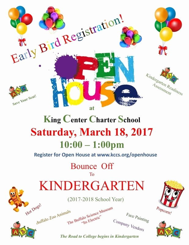 Open House Flyer for School Fresh King Center Charter School News & events