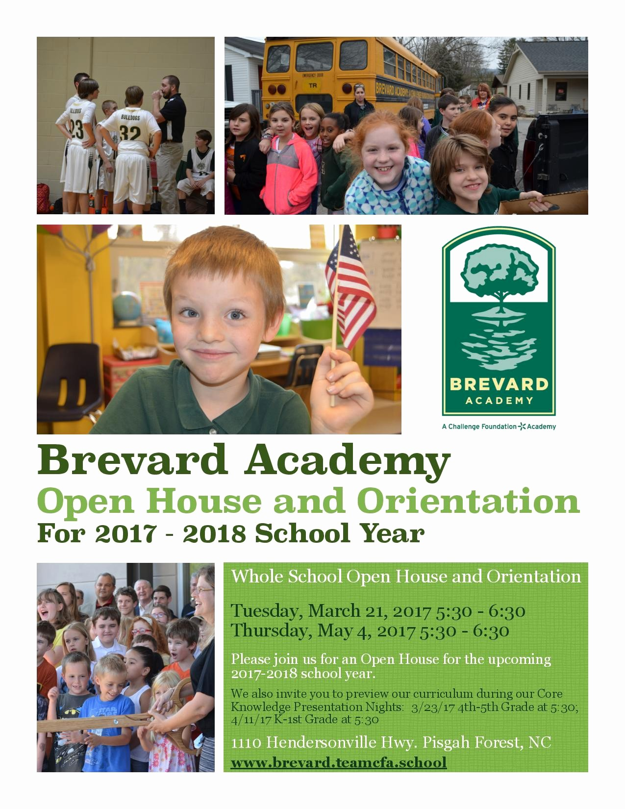 Open House Flyer for School Inspirational Brevard Academy Open House and orientation