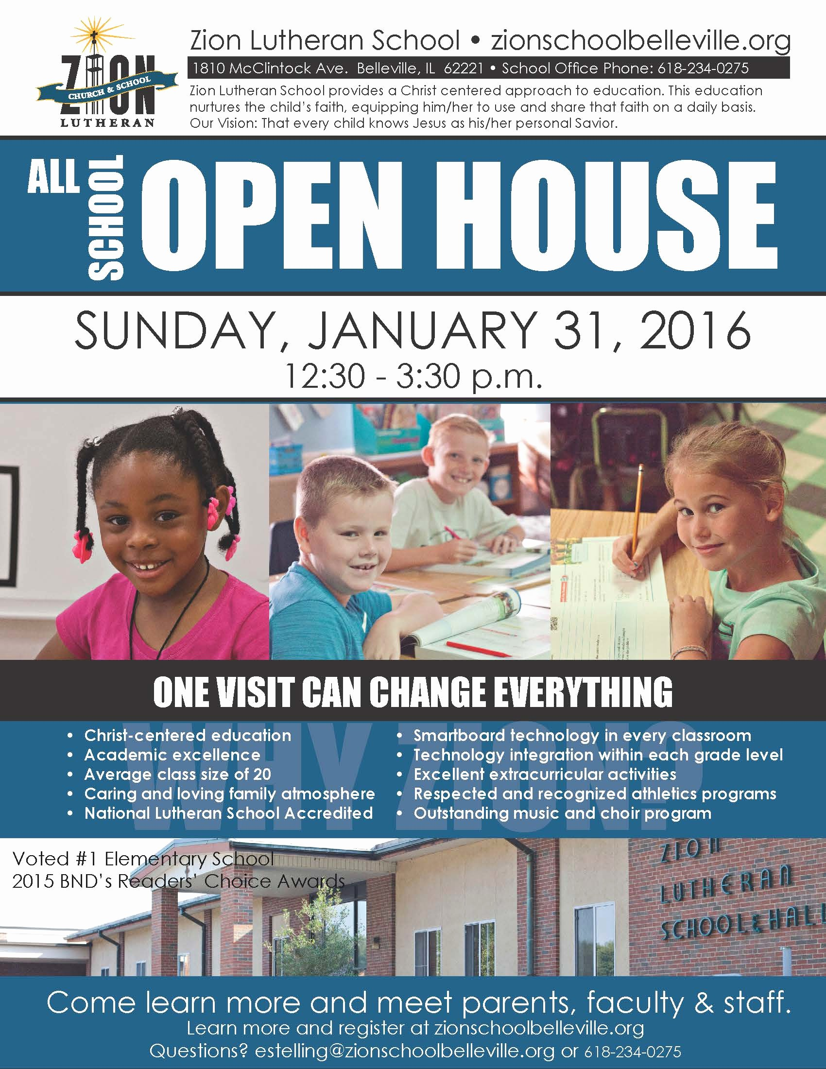 Open House Flyer for School Inspirational News Archives Page 4 Of 11 Zion Lutheran School