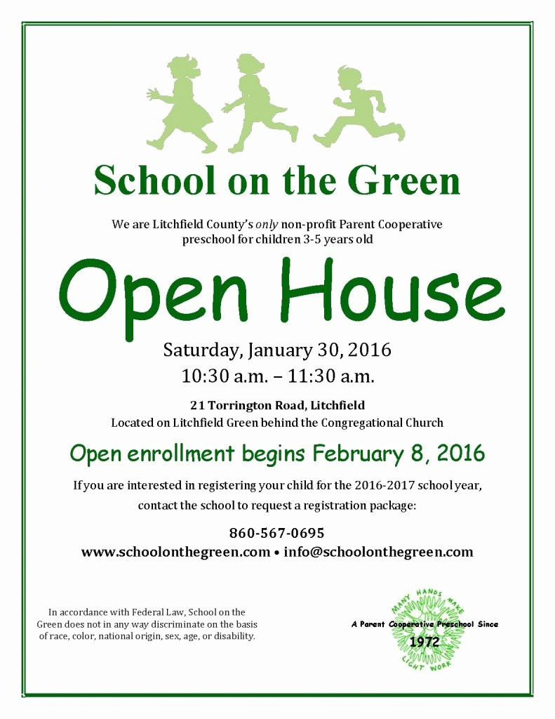 Open House Flyer for School Inspirational sotg Open House Flyer 2016 – School the Green