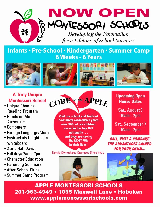 Open House Flyer for School Lovely Apple Montessori Schools Open House Saturday September 7